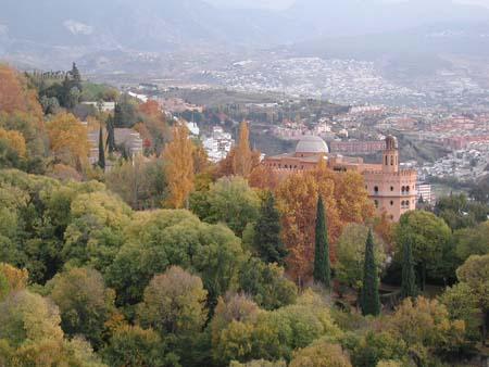 Looking down towards Malaga Spain