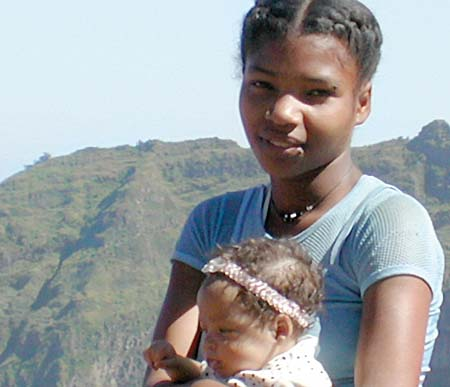 Cape Verde Mother and Child