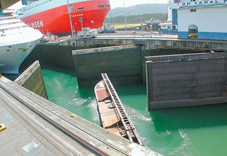 A Series of Locks at the Panama Canal