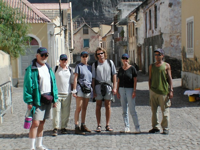 The gang and Kyky in Vila de Ribeira Grande