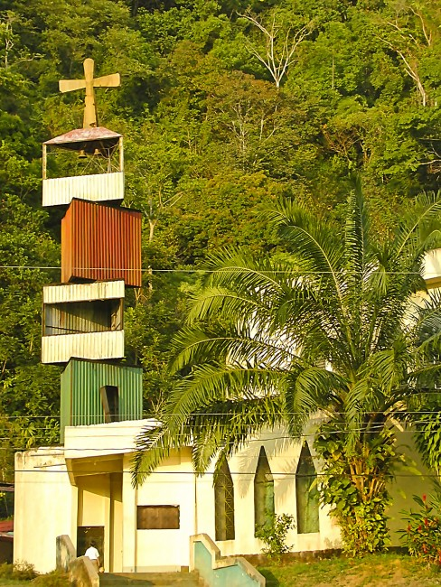 Church Tower Banana Bay Costa Rica