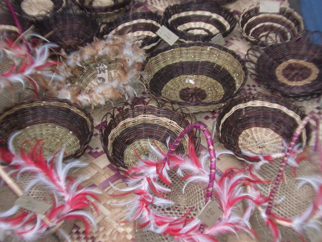 Vanuatu Baskets and Feathers