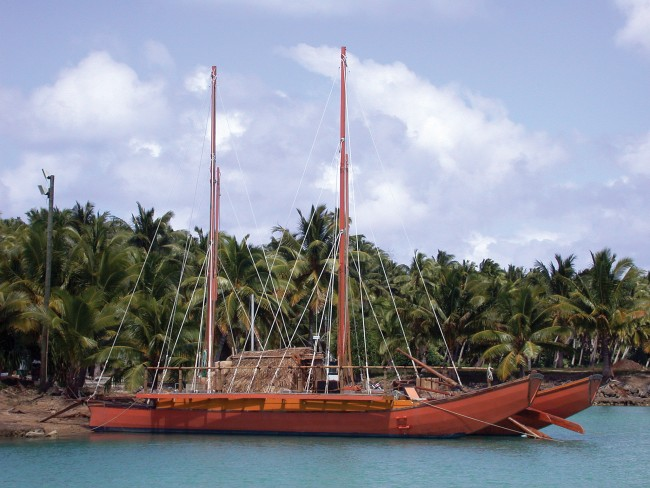 The vessel used for the movie set Authentic Catamaran
