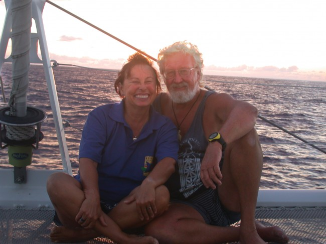 Lois and Gunter nearing the end of their Circumnavigation
