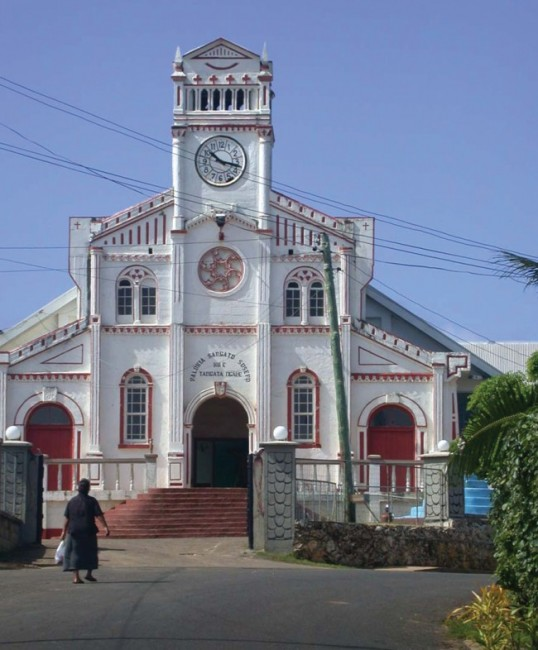 A Classic Tongan Catholic Church Colonial Style