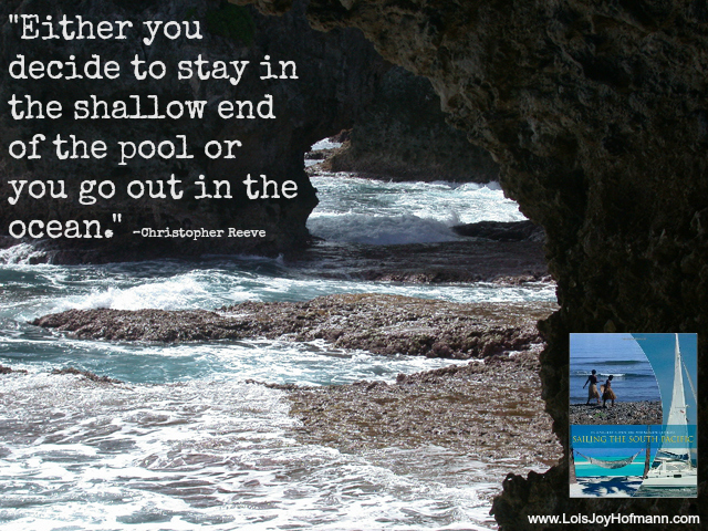 """PHOTO: """"Cave in Niue, a protectorate of New Zealand,"""" from my second book, """"Sailing the South Pacific."""""""