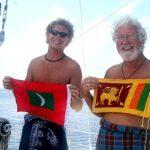 Maldives Flag - Sri Lanka Flag